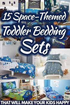 15 Space-Themed Toddler Bedding Sets That Will Make Your Kids Happy. Article by HomeDecorBliss.com #HDB #HomeDecorBliss #homedecor #homedecorideas