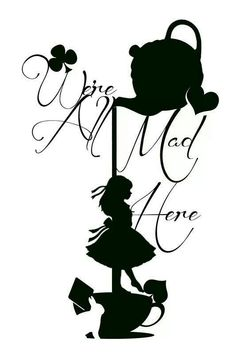 Alice in Wonderland - pretty print.  Would look cute in a bright colored frame