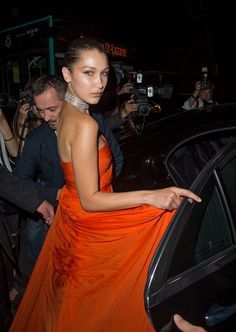 Bella Hadid at Vogue Foundation Dinner in Paris, France Check more at https://fashnberry.com/2017/07/bella-hadid-vogue-foundation-dinner-paris-france/
