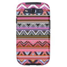 Aztec #5 - Pink Phone Case Samsung Galaxy S3 Cases