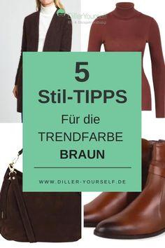 Braun liegt im Trend uns lässt sich sehr gut mit der bestehenden Garderobe kombinieren. Braun passt besonders gut zu warmen Farben. Trendfarbe Braun. Braun liegt im Trend. Business Outfit Frau, Business Outfits, Business Mode, Outfits Damen, Vintage Mode, Trends, Mode Outfits, Brown Blazer