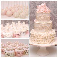 Hochzeitstorte Pops Cupcakes