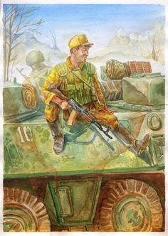 Военный рисунок Фархада Киреева - Colonel Cassad