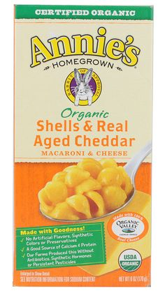 Annie's Organic Shells & Real Aged Cheddar - The absolute best mac and cheese EVER!