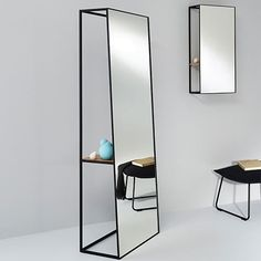 Chassis XL Standing Mirror by Deknudt Mirrors