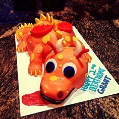 Wallykazam Dragon cake