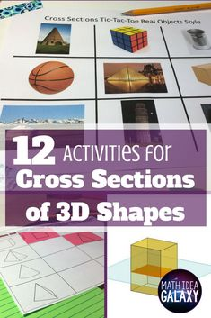 Check out all 12 engaging cross sections math activities, including FREE cross sections graphic organizer.