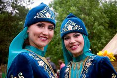 Tatar tribal women from Azerbaijan. Tartars are ancient Mongol decendants, now, very dispersed. They are mainly in Poland, Turkey, Iran, Crimea (Russian and Siberia areas) and Azerbaijan. Many are Muslim, and other reigions of ther region.