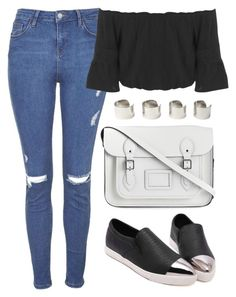 """""""Street Style x"""" by eduardacardoso1999 ❤ liked on Polyvore featuring The Cambridge Satchel Company, Topshop, Miss Selfridge and Maison Margiela"""
