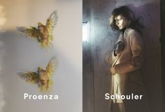 Les campagnes automne-hiver 2013-2014 Proenza Schouler Sasha Pivovarova
