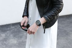 Bell&Ross black watch worn by worryaboutitlater Bell Ross, Daniel Wellington, Watches, Black, Dresses, Fashion, Leather Jacket, Jackets, Wrist Watches