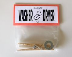 Washer & Dryer Gag Gift Do you have a hard time buying for someone who has everything or is just too picky? Prank Gifts, Joke Gifts, Homemade Christmas Gifts, Xmas Gifts, Small Christmas Gifts, Santa Gifts, Family Christmas, Christmas Eve, Christmas Ornament