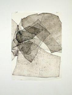 "Eben Goff, ""Botholith etchings"": Aluminium plate monoprints on Rives BFK"