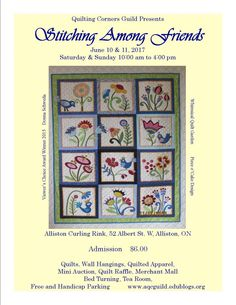 Quilt Show 2019 Whimsical, Arts And Crafts, Auction, Presents, Quilts, Stitch, Ontario, Frame, Poster