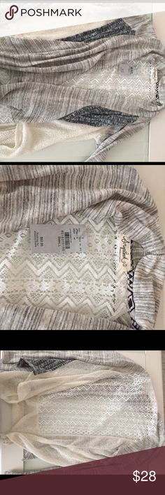 NWT Buckle cardigan sz S Lightweight waterfall cardigan with lace back. Scrap book brand but from the buckle Buckle Sweaters Cardigans