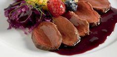 Filetto di Cervo con Salsa di Mirtilli