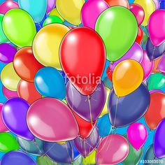 "Download the royalty-free photo ""Colorful Balloons Flying pattern, Holiday background. Illustration, concept for holiday card, print, children event."" created by sofiartmedia at the lowest price on Fotolia.com. Browse our cheap image bank online to find the perfect stock photo for your marketing projects!"