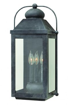 Buy the Hinkley Lighting Aged Zinc Direct. Shop for the Hinkley Lighting Aged Zinc Anchorage 3 Light Tall Outdoor Heritage Wall Sconce with Clear Glass Panels and save. Outdoor Wall Lantern, Outdoor Wall Sconce, Outdoor Wall Lighting, Outdoor Walls, Lighting Ideas, Porch Lanterns, Garage Lighting, Lighting Design, Exterior Light Fixtures