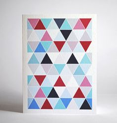 Spring Multi - Equilaterial Triangle Card $4 from Carson Too