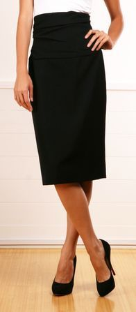 A Black Pencil Skirt is A Must in EVERY Wardrobe!  #workflow  #HOPflow