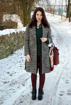 tweed coat; black; ankle boots | General | Pinterest | Tweed coat ...