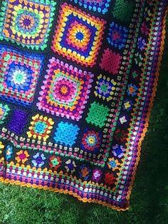 multi-size granny square blanket