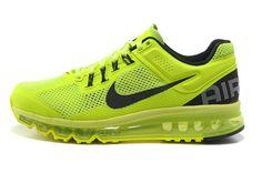 get cheap 3220e 501bd Unisexe Chaussures Running Nike Air Max + 2013 Totale De Flash  Lime Noir,Quality