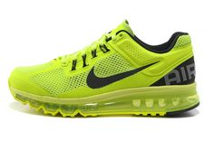 Unisexe Chaussures Running Nike Air Max + 2013 Totale De Flash Lime/Noir,Quality Sneakers are worthy for you own it .Dont miss it .
