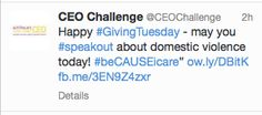 #GivingTuesday #beCAUSEicare