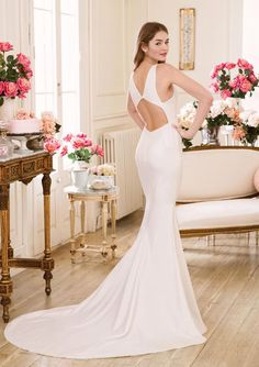 Sweetheart Gowns - Style Fit and Flare Dress with Keyhole Back Detail Mothers Dresses, Girls Dresses, Flower Girl Dresses, Wedding Dress Shopping, Dream Wedding Dresses, Fit And Flare Wedding Dress, Flare Dress, Sabrina Neckline, Sweetheart Bridal
