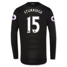 Liverpool FC 2016-17 Season Away LS Shirt #15 STURRIDGE Jersey [F449]
