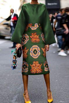 Summer Women Long Sleeve Printed Fashion Midi Plus Size Dress Hot Sale!Summer Women Long Sleeve Printed Fashion Midi Plus Size Dress - Unique Long Hairstyles Ideas Fashion Mode, Look Fashion, Womens Fashion, Fall Fashion, Green Fashion, Floral Fashion, Mode Outfits, Skirt Outfits, Mode Inspiration