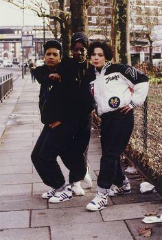 She Rockers (London Rap/Dance Crew), Shepherd's Bush Green, London, 1988
