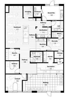 Floor plan design for coworking long space architecture lay out longmont braces malvernweather Image collections