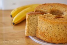 Minty's Kitchen: Caramelised Banana Chiffon Cake
