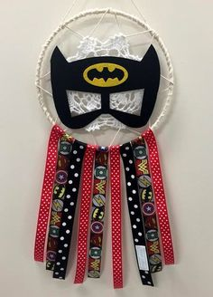 "Medium Dream Catcher - ""Hero Bat\"""