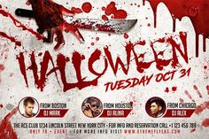 Halloween Horizontal Flyer Template - http://www.xtremeflyers.com/halloween-horizontal-flyer-template/ Halloween Horizontal Flyer Template PSD was designed to advertise a Halloween event inside a bar / pub / club .  #Club, #Flyer, #Halloween, #Horror, #Nightclub, #Poster, #Psd, #Spooky, #Template, #Thriller