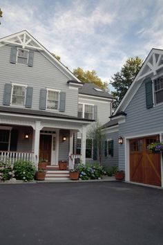 aint gonna lie I love grey houses. pretty porch and gable.