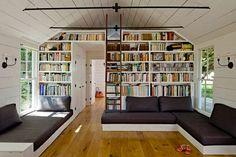 Идеи по оформлению домашней библиотеки | 205 фотографий