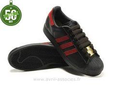 Boutique Adidas Superstar 35e Anniversaire Hommes Or Noir Rouge (Adidas Superstar 80)