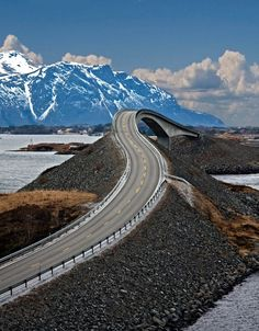 The Atlantic Road, Norway. Check out this link to see someone drive the road, Scary stuff! : http://video.ca.msn.com/browse/viral?videoId=3b15b12b-bf81-48cd-9ede-6f4554206294=sharepermalink=v5%3Ashare%3Asharepermalink%3Auuids Norway Travel, Norway Roadtrip, Cruise Norway, Travel Europe, Winding Road, Beautiful Places In The World, Most Beautiful, Amazing Places, Places Around The World