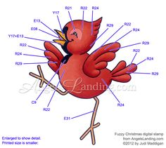Copic Coloring Guide for Christmas Cardinal by Crafts - Cards and Paper Crafts at Splitcoaststampers