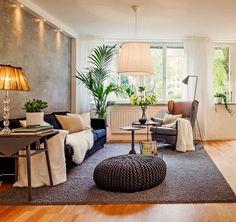 Casinha colorida: Salas de estar no estilo escandinavo