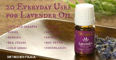 20 Everyday Uses for Lavender Essential Oil #essentialoils - DontMesswithMama.com