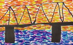 Warm & Cool Color Bridge Design | http://mrsjacksonartbd.weebly.com