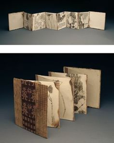 Accordian book
