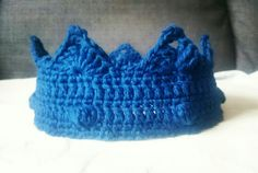 Crochet crown, boy crown, prince crown