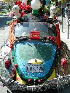 "One of Berkeley's more famous ""Art Cars"". Berkeley, California"