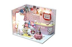 Cuteroom Dollhouse Miniature DIY House Kit with Cover Artwork Gift Angel Dream Hello Kitty Bar