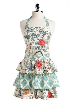I am unlikely to ever wear an apron, but if I did, it would look like this.  Super cute.